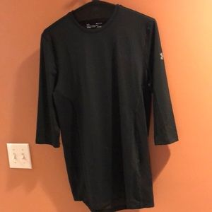 Under Armour Fitted Heat Gear 3/4 Sleeve Tee